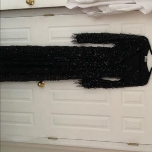 Sequin Maxi Gown w/slits